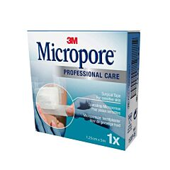 Micropore 1,25cm x 5m 1 Stuk