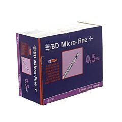 BD Microfine+ Insulinespuit 0,5ml 30g 8mm 100 Stuks