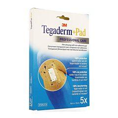 Tegaderm + Pad 3M Transparant Steriel 9cmx10cm 5 Stuks