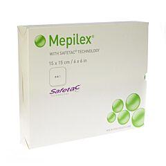 Mepilex Schuimverb Sil Abs Ster 15x15cm 5 294300