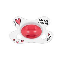 Difrax Fopspeen Natural I Love Mama 0-6M 1 Stuk
