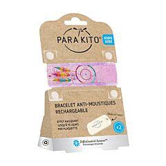 Parakito Kids/ Teens Anti-Muggen Armband Feather + 2 Navullingen