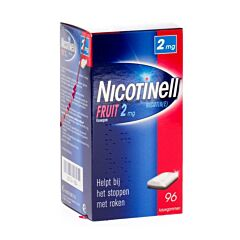 Nicotinell Fruit 2mg 96 Kauwgoms