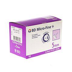 BD Microfine+ Pennaald 5mm 31g 100 Stuks