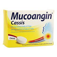 Mucoangin Cassis 30 Zuigtabletten