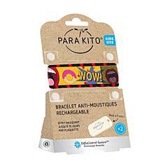 Parakito Kids/ Teens Anti-Muggen Armband Popart + 2 Navullingen