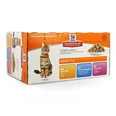 Hills Science Plan Feline Kat Adult Multipack Classic 12x85g