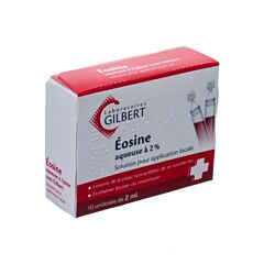 Gilbert Eosine Waterige Oplossing 2% Steriel 10x2ml