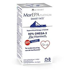 MorEPA Smart Fats Platinum + Vitamine D3 1000IU 60 Softgels