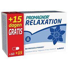 Promagnor Relaxation 60 Capsules + 15 Capsules Gratis