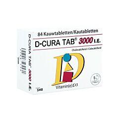 D-Cura Tab 3000 I.E. 84 Kauwtabletten