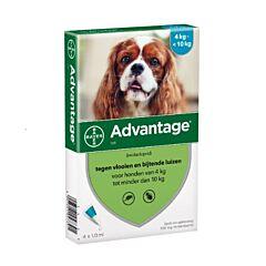 Advantage Hond 100 Spot-On Anti-Vlooien 4-10kg 4x1,0ml