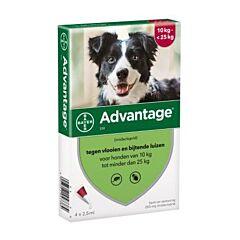 Advantage Hond 250 Spot-On Anti-Vlooien 10-25kg 4x2,5ml