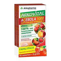 Arkovital Acerola 1000 Family Pack 45 Tabletten + 15 Gratis