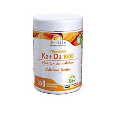 Be-Life Vitamines K2+D3 1000 30 Capsules