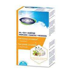 Bional Knoflook-Maretak-Meidoorn-Vitamine E 80 Capsules