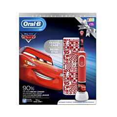 Oral-B D100 Cars Elektrische Tandenborstel 1 Stuk + GRATIS Travelcase
