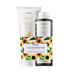 Korres Gekleurd Haar Zonnebloem & Bergthee Conditioner 200ml + GRATIS Zonnebloem & Bergthee Shampoo 250ml