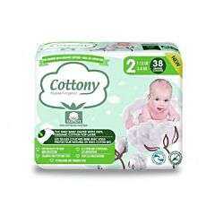 Cottony Katoenen Luiers - Maat 2 - 38 Stuks