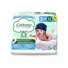 Cottony Katoenen Luiers - Maat 3 - 32 Stuks