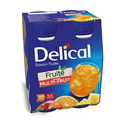 Delical Fruitdrink Multivruchten 4x200ml