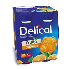 Delical Fruitdrink Sinaasappel 4x200ml