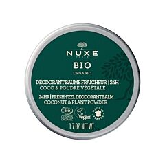 Nuxe Bio 24u Verfrissende Deo Balsem Kokos & Plantpoeder 50g