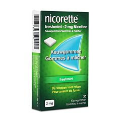 Nicorette 2mg Freshmint 30 Kauwgommen
