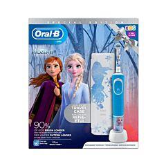 Oral-B D100 Frozen Elektrische Tandenborstel 1 Stuk + GRATIS Travelcase