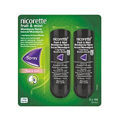 Nicorette Fruit & Mint 1 Mg Spray 2x150 Dosissen