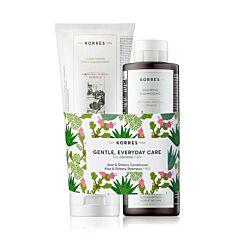 Korres Normaal Haar Aloë & Dittany Conditioner 200ml + GRATIS Aloë & Dittany Shampoo 250ml