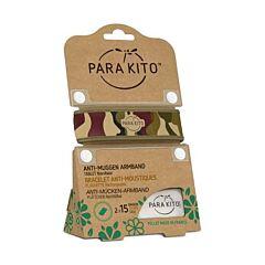 Parakito Anti-Muggen Armband Camouflage + 2 Navullingen