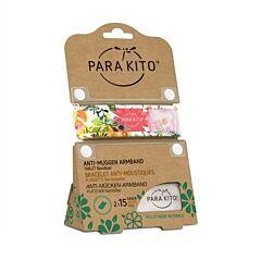 Parakito Anti-Muggen Armband Flowery + 2 Navullingen