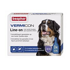 Beaphar Vermicon Line-on Grote Hond 3x4,5ml