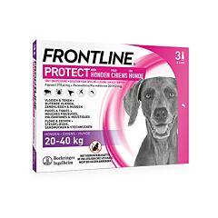 Frontline Protect - Anti-Vlooien/ Teken Spot-On Oplossing Voor Honden - 20-40kg - 3 Pipetten