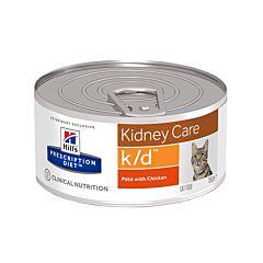 Hills Prescription Diet Kidney Care K/D Kattenvoer Paté Kip 156g