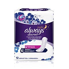 Always Discreet Maxi Night Maandverband Urineverlies 12 Stuks