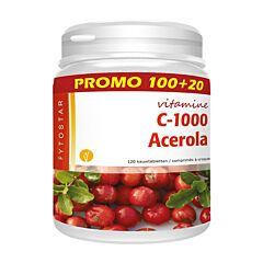 Fytostar Vitamine C 1000 Acerola Promo 100 Tabletten + 20 GRATIS