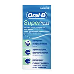 Oral-B Super Floss Munt Waxed 50 Stuks