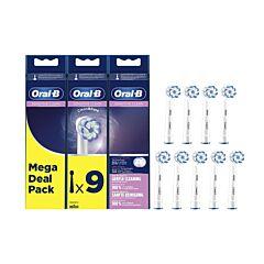 Oral-B EB60 Sensitive Clean Opzetborstels Promopack 9 Stuks