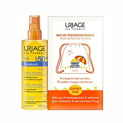 Uriage Bariésun Spray Kind SPF50+ 200ml + Gratis Isothermaal Warmtegevoelig Rugzakje