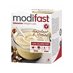 Modifast Intensive Pudding Yoghurt Hazelnoot 8x52g