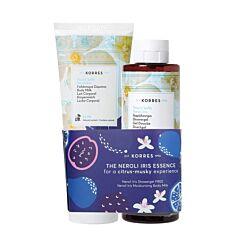 Korres The Neroli Iris Essence Kit: Hydraterende Bodymelk 200ml + GRATIS Douchegel 250ml