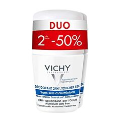 Vichy Deo Reactieve Huid 24u Roll-On Duo 2e -50% 2x50ml
