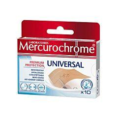 Mercurochrome Universal Pleisters 10cmx6cm 10 Stuks