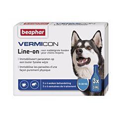 Beaphar Vermicon Line-on Middelgrote Hond 3x3ml