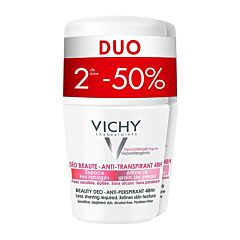 Vichy Deo Anti-Transpiratie Beauty Roller 48u Duo 2e -50% 2x50ml