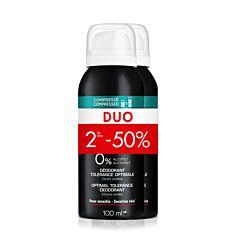 Vichy Homme Deodorant 48u Optimale Tolerantie 2x100ml Promo 2de -50%