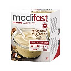 Modifast Intensive Pudding Yoghurt Hazelnoot 8x52g