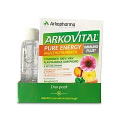 Arkovital Pure Energy Duopack 60 Tabletten + GRATIS Pure Clean Hydroalcoholische Gel 100ml